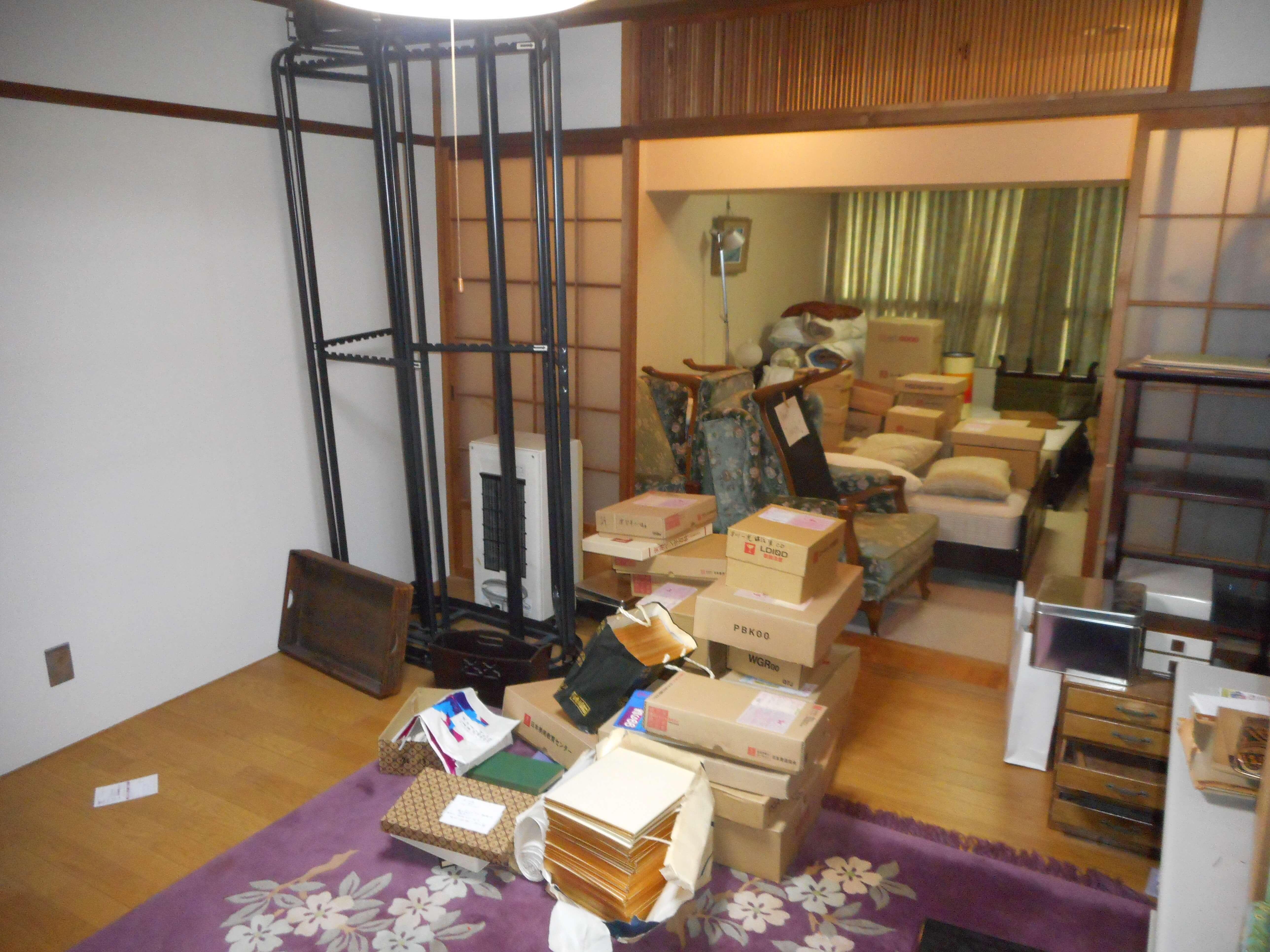 整理前の居室内の様子